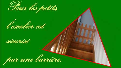 barrière de sécurité dans l'escalier