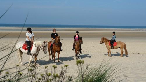 équitation sur la plage d'hardelot