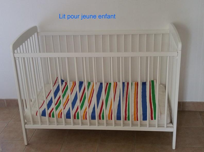 les gîtes du verger - lit bébé